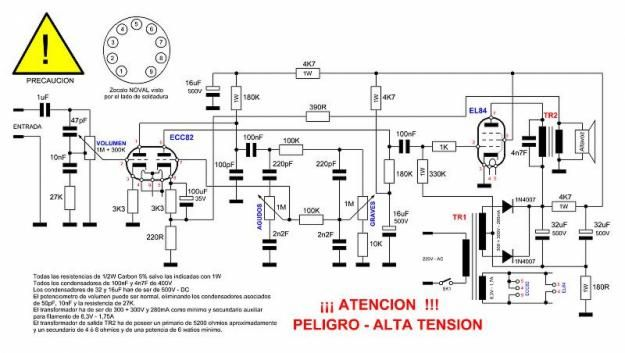 12ax7 12au7 tube preamplifier schematic