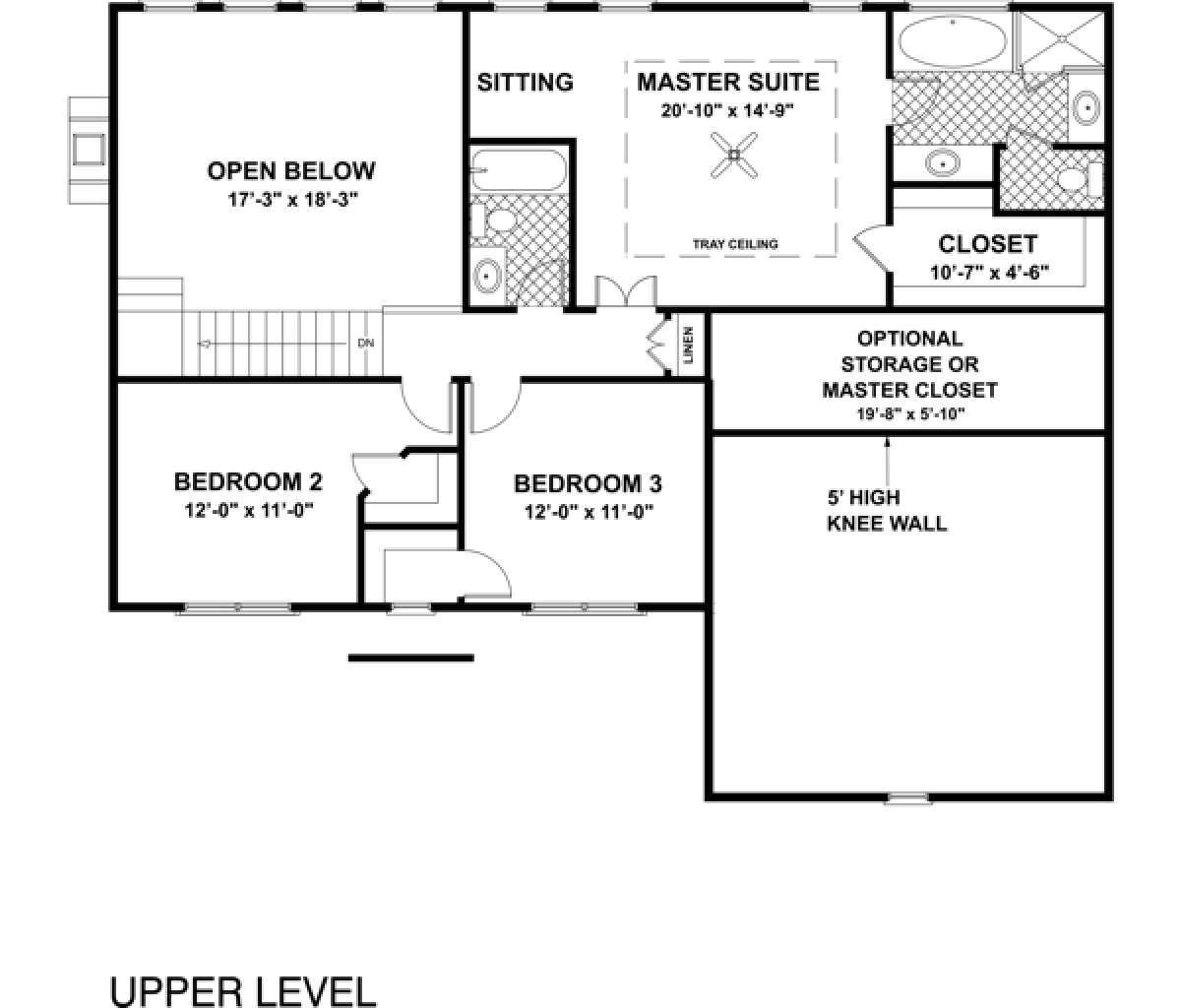 Colonial Plan: 2,097 Square Feet, 4 Bedrooms, 3 Bathrooms - 036-00086