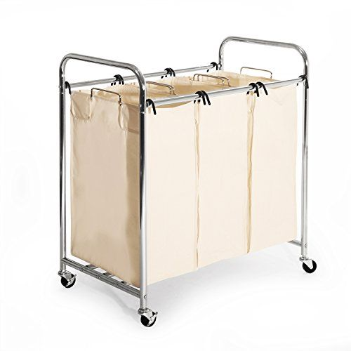 Seville Classics Mobile 3 Bag Heavy Duty Laundry Hamper S Laundry Hamper Laundry Sorter Laundry Sorter Hamper