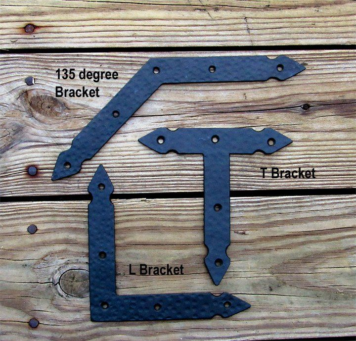 Hand Forged Rustic Hammered Brackets Braces Incl Rustic Head Screws Rustic Hardware Rustic Interior Barn Doors Interior Barn Doors