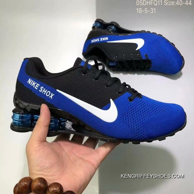 ddb7d6de0546 Nike AIR SHOX FLYKNIT Zoom Running Shoes 2018 Russia FIFA World Cup BLUE  Best