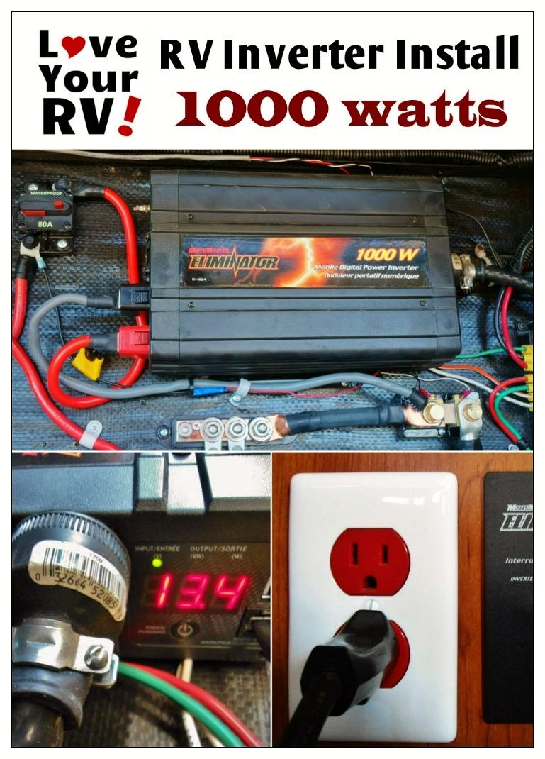 small resolution of simple way to install a 1000 watt inverter into your rv rv inverter installation explained