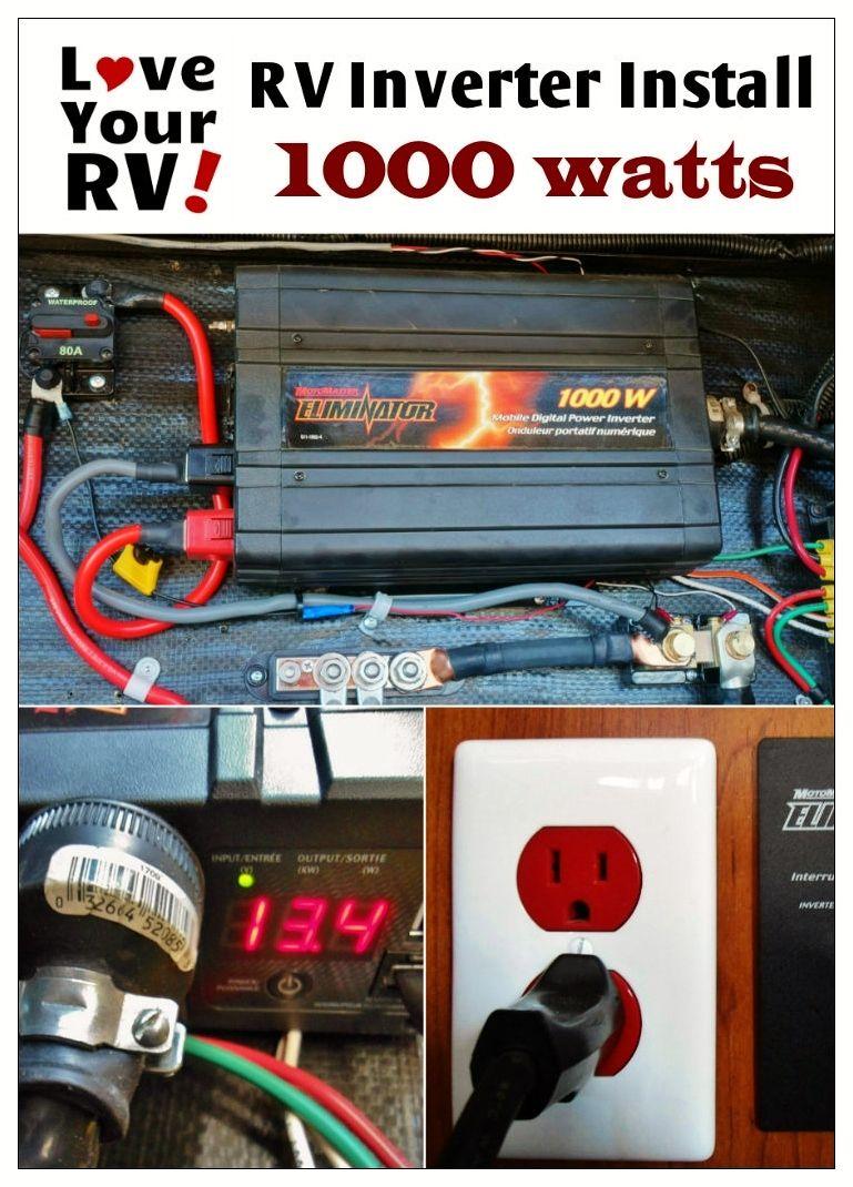hight resolution of simple way to install a 1000 watt inverter into your rv rv inverter installation explained
