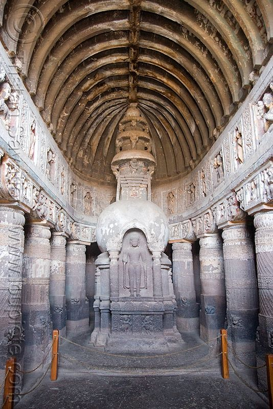 Cave 19 - Ajanta Caves - Ancient Buddhist Temples (India