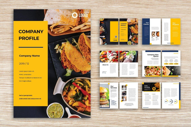 Company Profile By Uicreativenet On Company Profile Template
