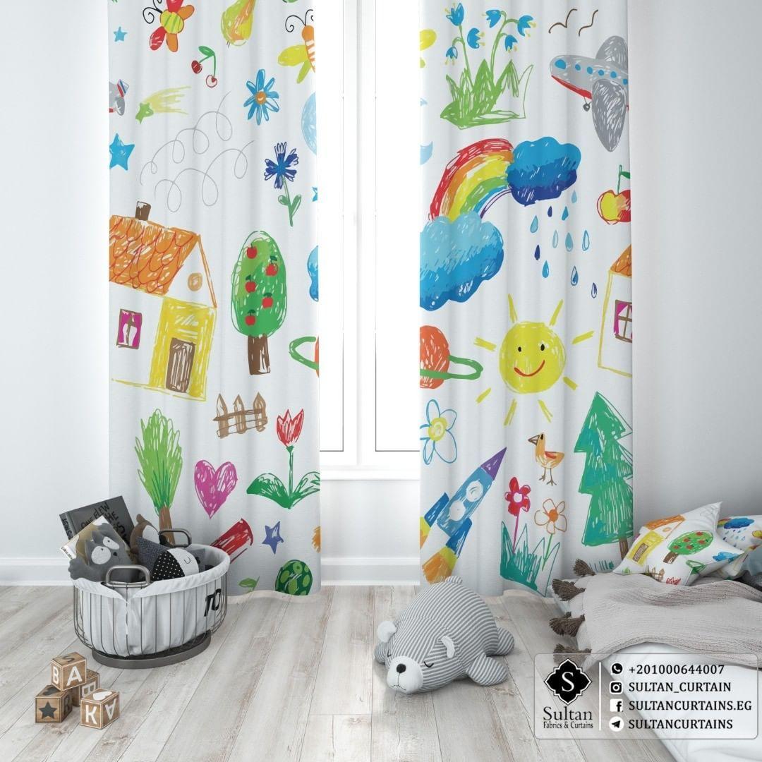 ستائر مودرن مطبوعه لأطفال بيتاثروا بالاجواء اللي حواليهم ستاير مودرن للاطفال تغير مود طفلك وتديهم حافز ك Printed Shower Curtain Prints Shower Curtain
