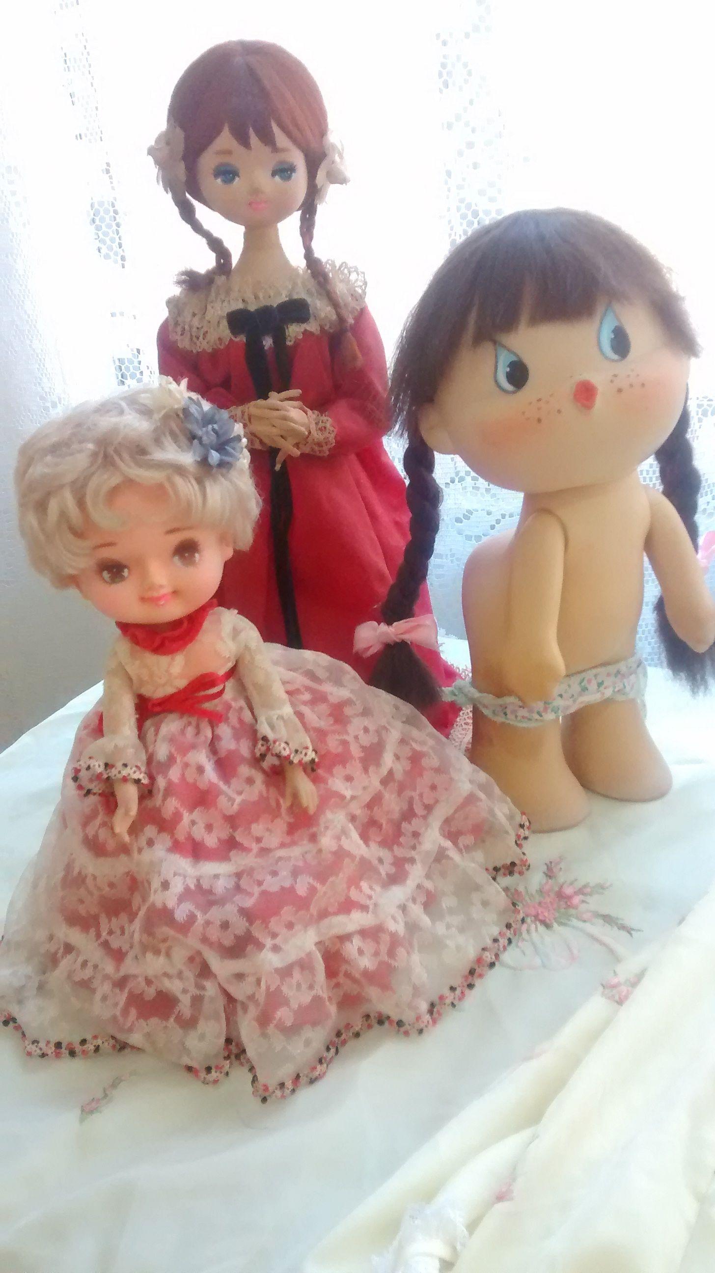 Bonecas antigas Big eyes peladinhas, pose doll japonesas.