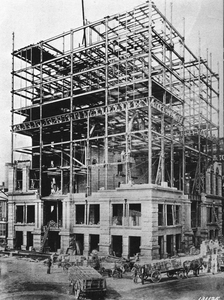 Building Of The First Skyscrapers Home Insurance Building