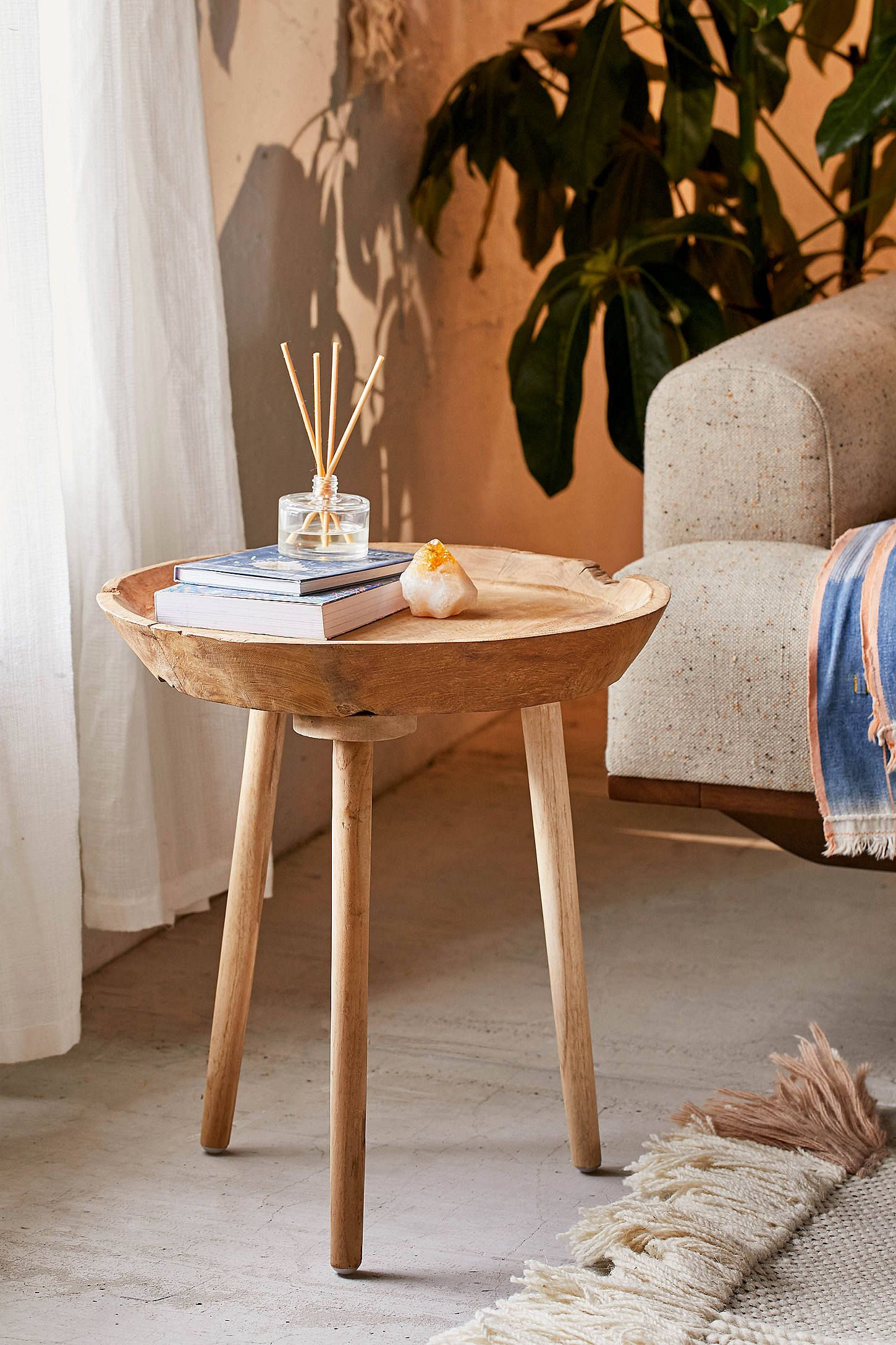 Elsa Side Table Urban Outfitters Side Table Decor Side Table Wood Teak Wood Side Table
