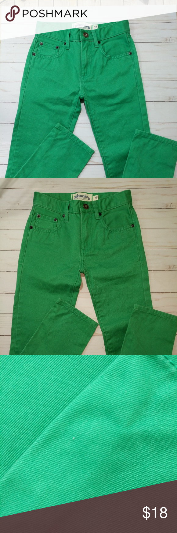 Girl   johnnie  green jeans like new regular also tiny and rh pinterest