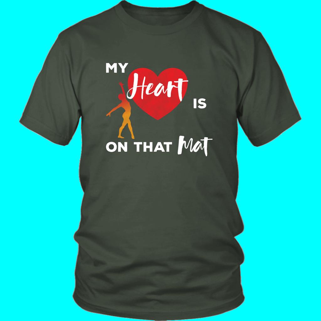 b051856a3 Gymnastics Mom Shirt My Heart is on that Mat Tshirt