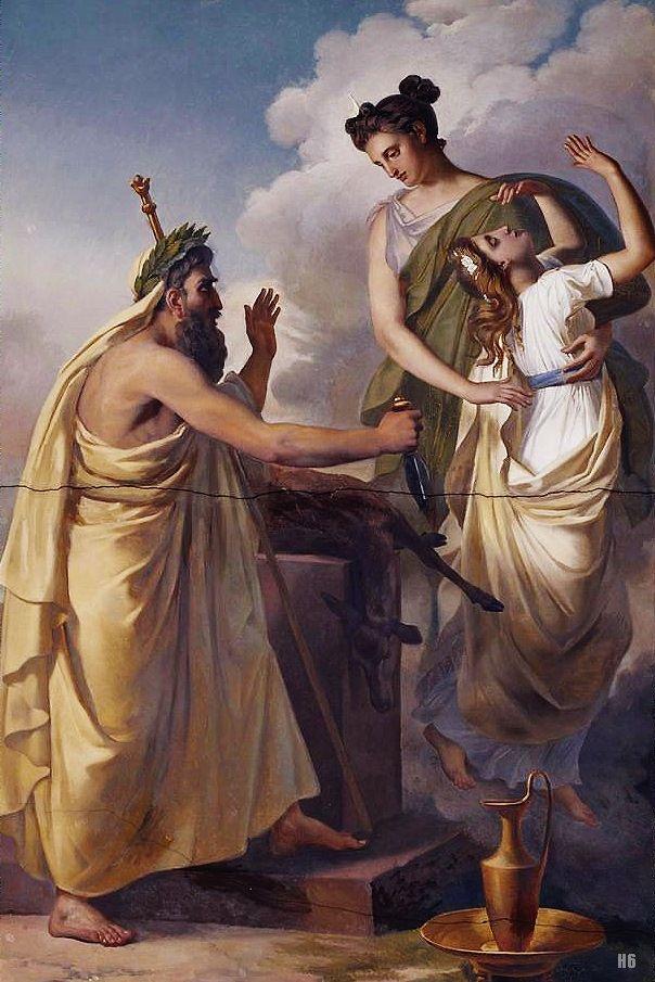 Abel De Pujol Le Sacrifice D Iphigenie Classic Art Art History Art