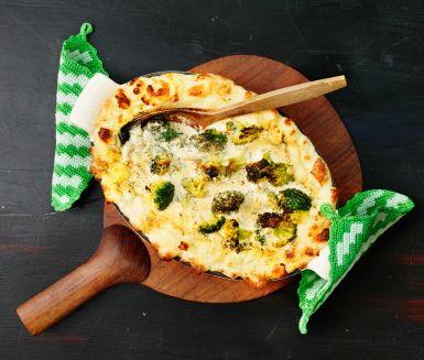 broccoli och skinkpaj ica