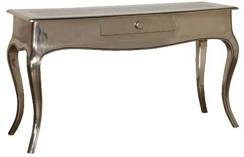 Shiny Silver Console Table by Out There Interiors