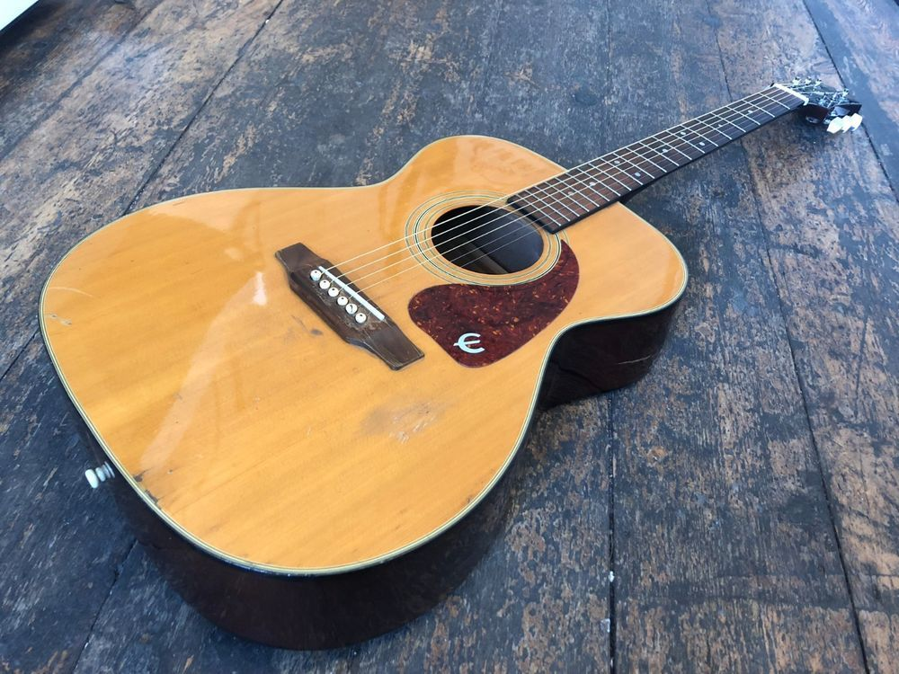 Epiphone by gibson pr400 natural acoustic guitar 1993