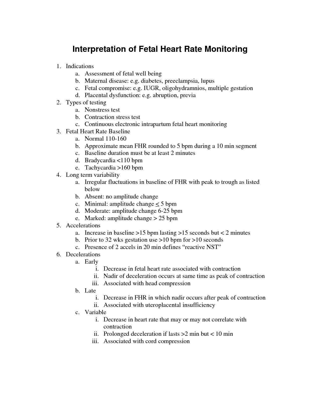 NICHD categories Google Search Fetal heart rate, Fetal