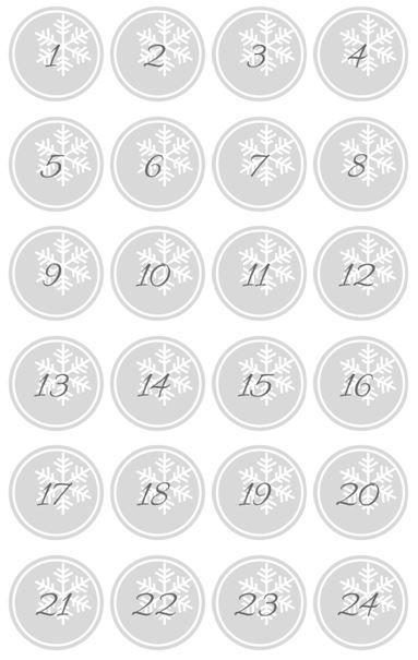 DIY kostenlose Adventskalender Zahlen als PDF zum Ausdrucken #weihnachtlicheszuhause