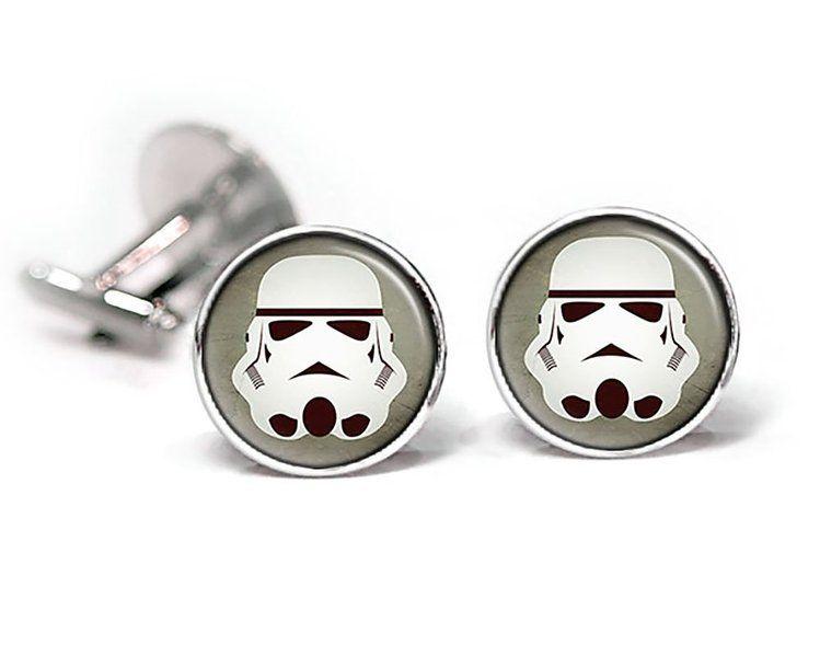 Stormtrooper Cufflinks, Star Wars Tie Clip, Stormtroopers Jewelry, Jedi Cuff Links, Darth Vadar, Death Star, Star Wars Wedding Party Gifts, Groomsmen Gift