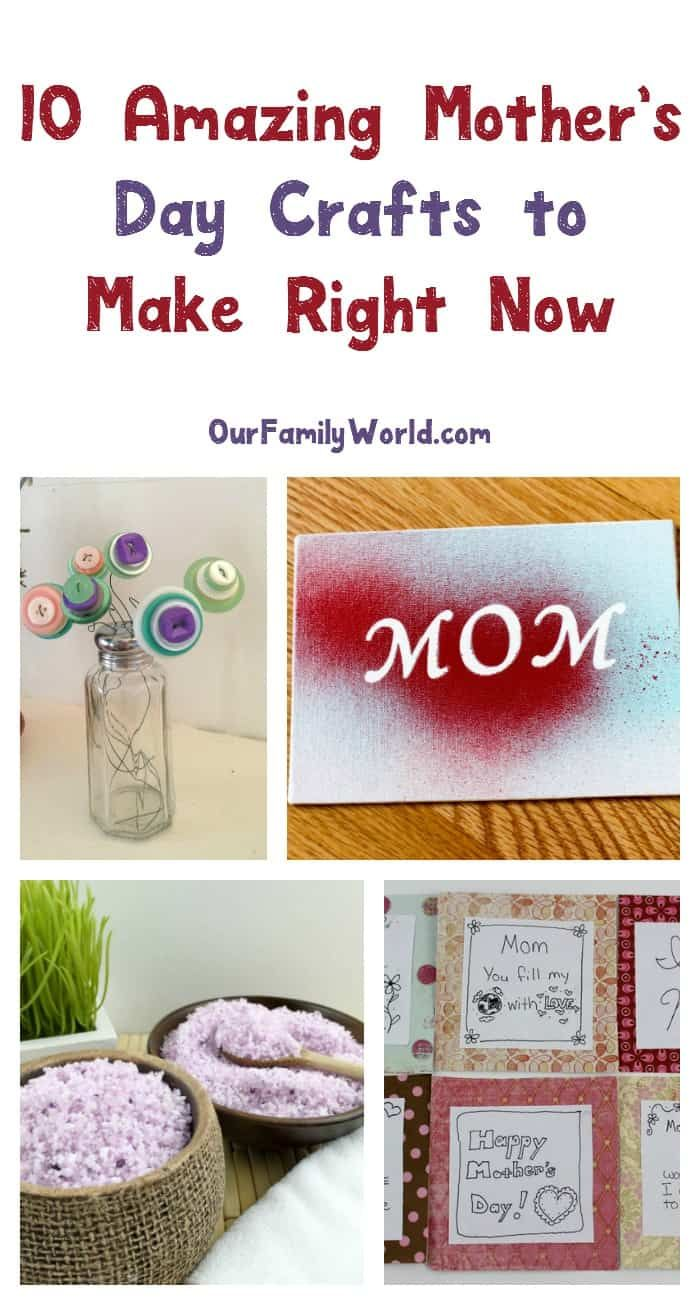 10 Amazing Mother's Day Crafts to Make Right Now (With ...