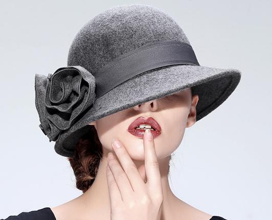 467e4ea7b Red/ Navy Blue/Grey Women's vintage Wool Hat Winter Autumn Floppy ...