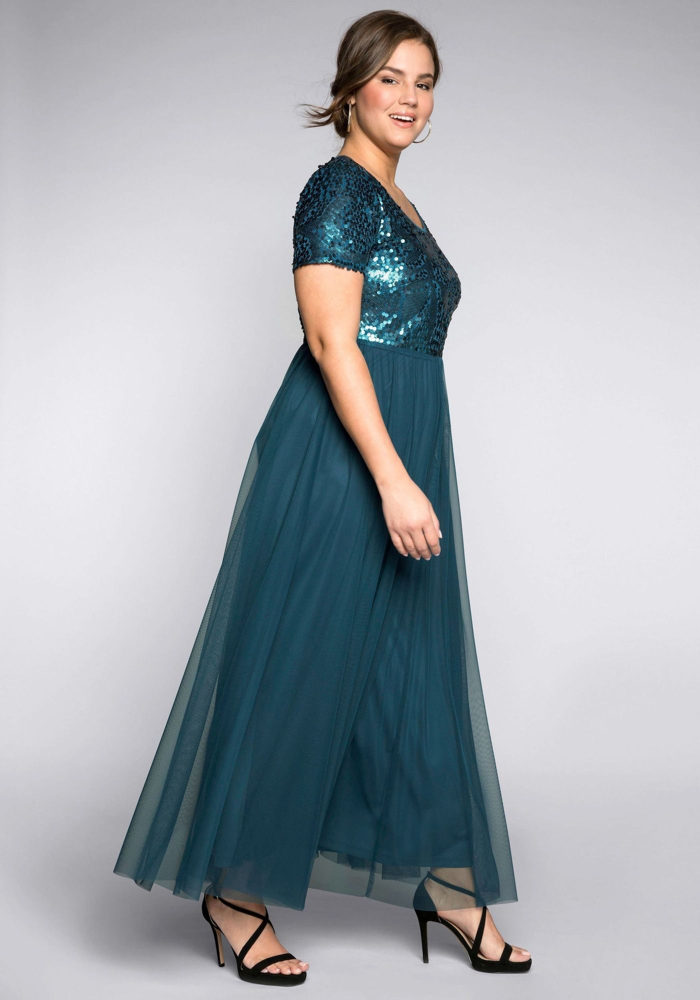 SHEEGO Kleid Damen, Petrol, Größe 29  Kleider größe 29, Kleider