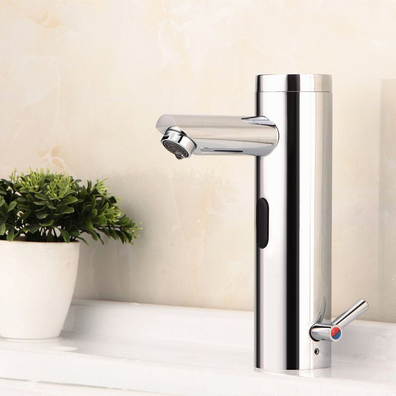 Bon Hygienic Brass Integrated Automatic Bathroom Faucet Sensor Hot Cold Mixer  Tap Touchless Water Saving Faucet Mixer