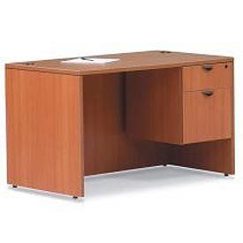 48 Inch Rectangular Desk Shell In Medium Cherry   Executive Modular  Furniture By GLOBAL INDUSTRIES OTG