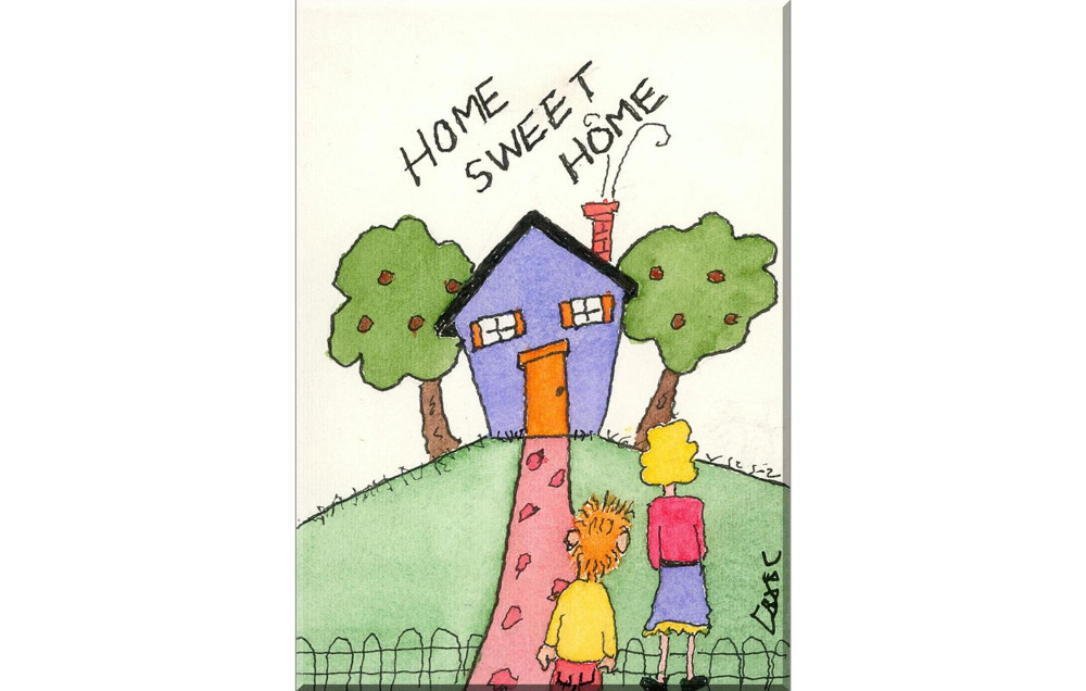 Funny House Card Happy Home Sweet Home Handcrafted Blank Etsy