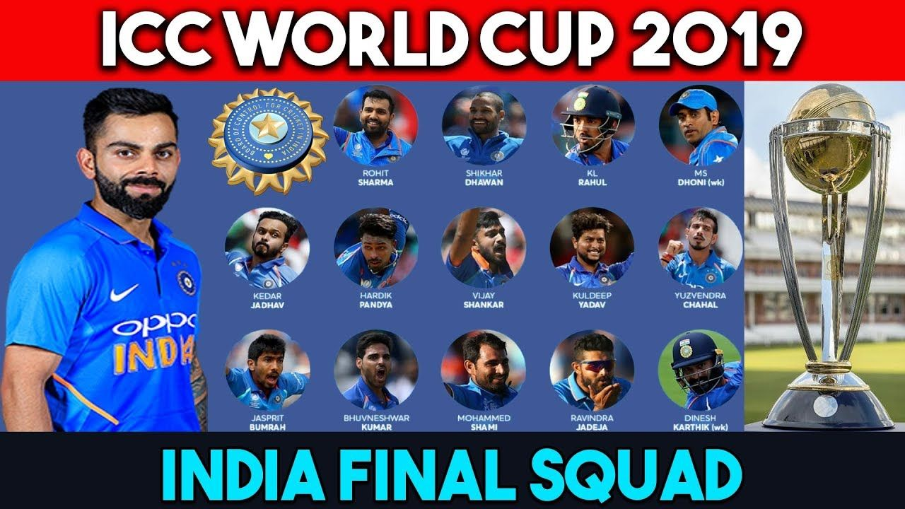 World Cup 2019 India Players India 15 Members Final Squad For World Cu World Cup Cricket World Cup Ravindra Jadeja
