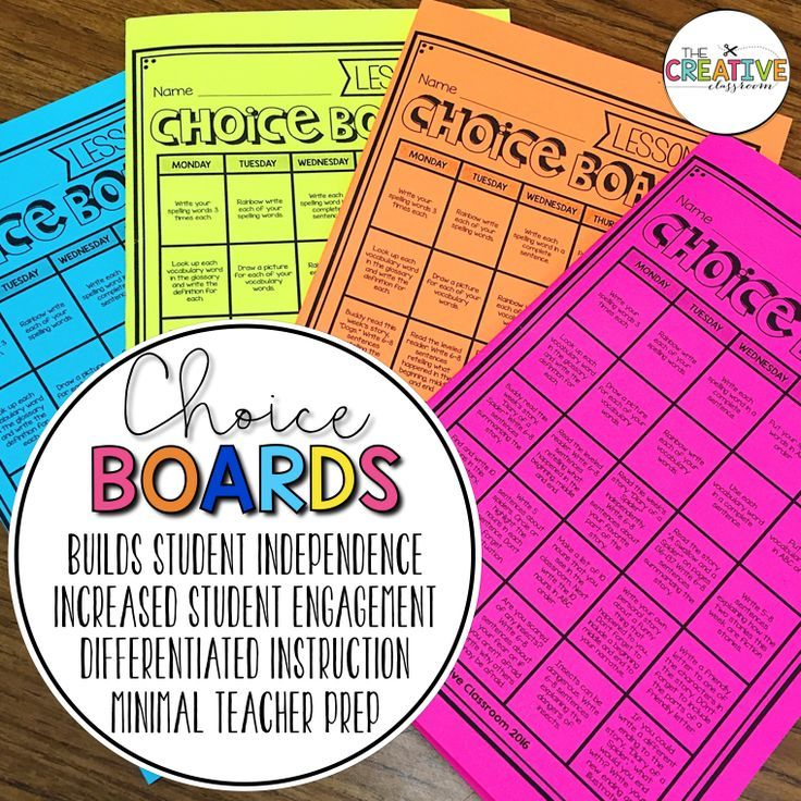 The Choice Of Engagement Pinterest Differentiated Instruction