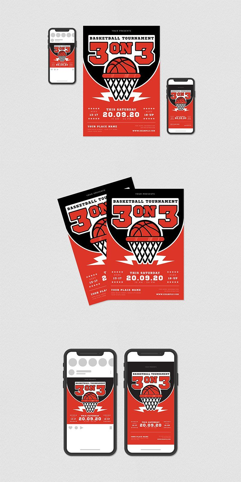 3 On 3 Basketball Tournament Flyer 954896 Flyers Design Bundles Flyer Flyer Design Flyer Design Templates