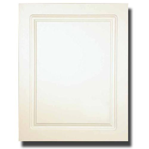 White 16Inch x 20Inch Recessed Raised Panel Door Steel