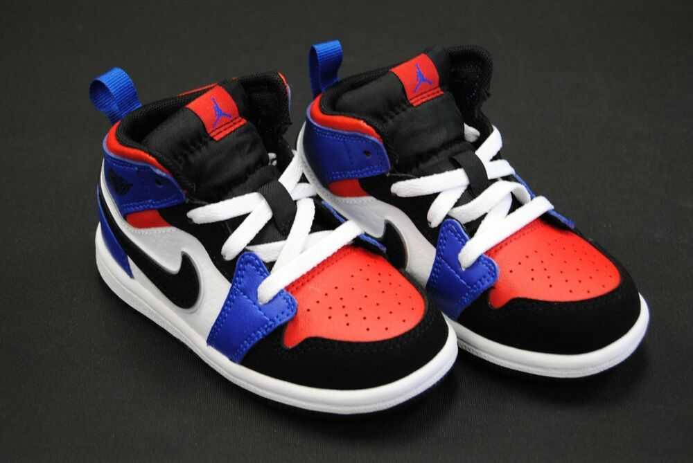 premium selection a6e3b cd436 640735 124] NEW TODDLER AIR JORDAN 1 MID TD TOP 3 WHITE ...