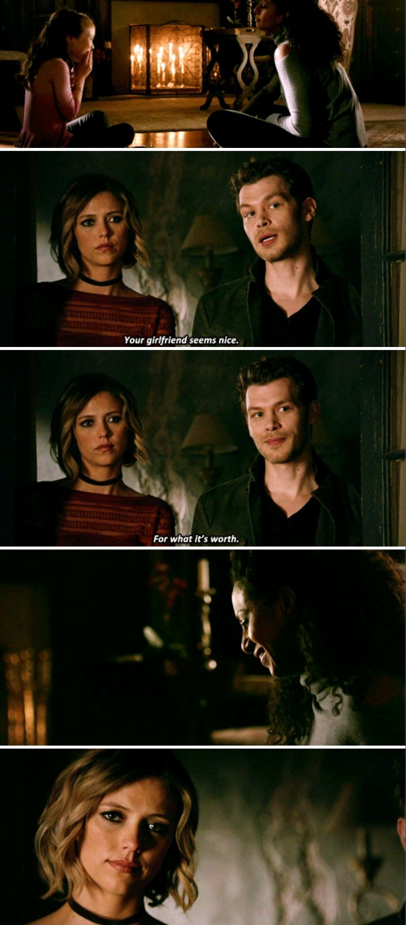 The Originals 4x09 - I love this! Meeting Caroline and having Hope has really made him a better person. Love how accepting he is of Freya and her girlfriend