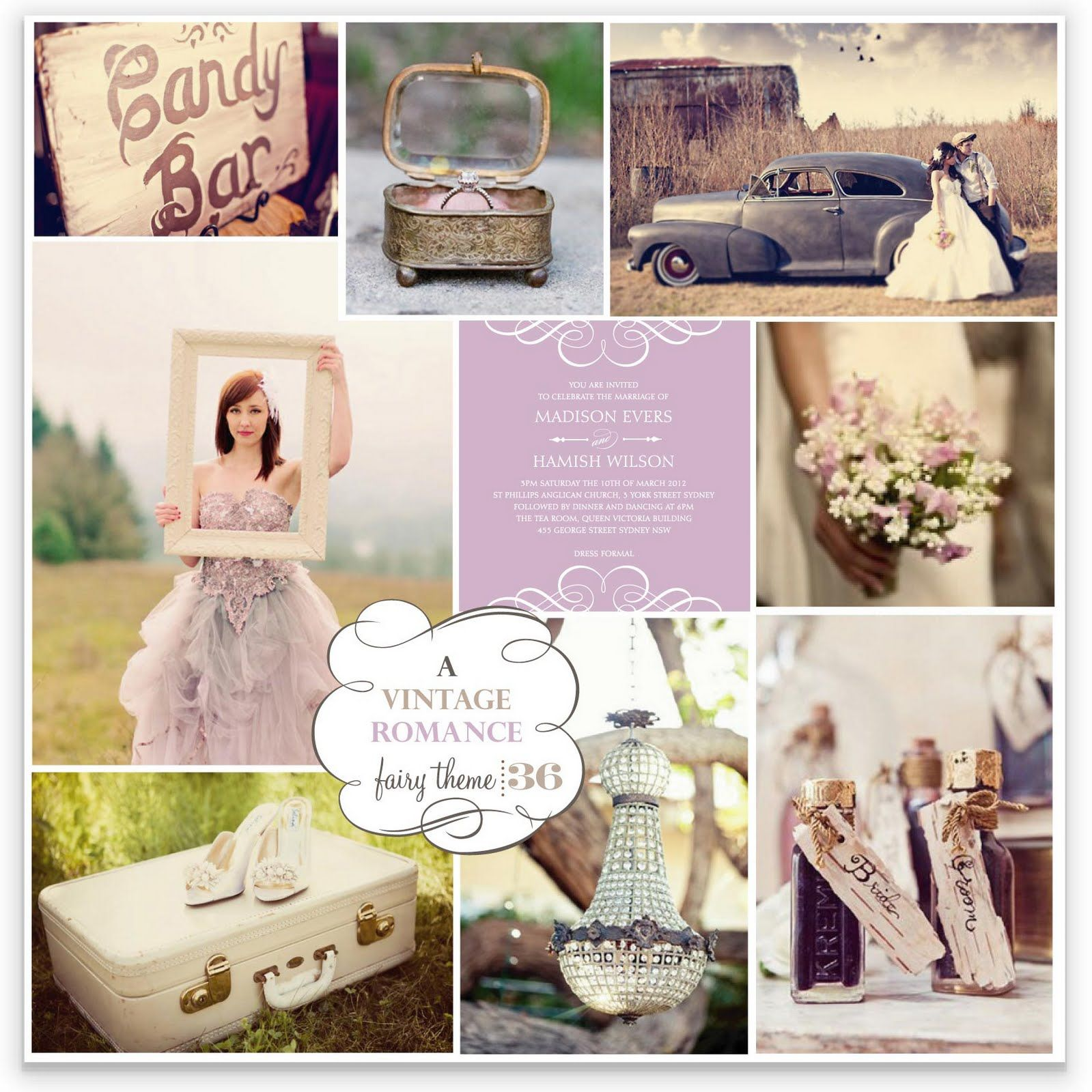 Vintage Themes Bring Dusty Romantic Colours To Life Such As Lilacs Apricots Creams