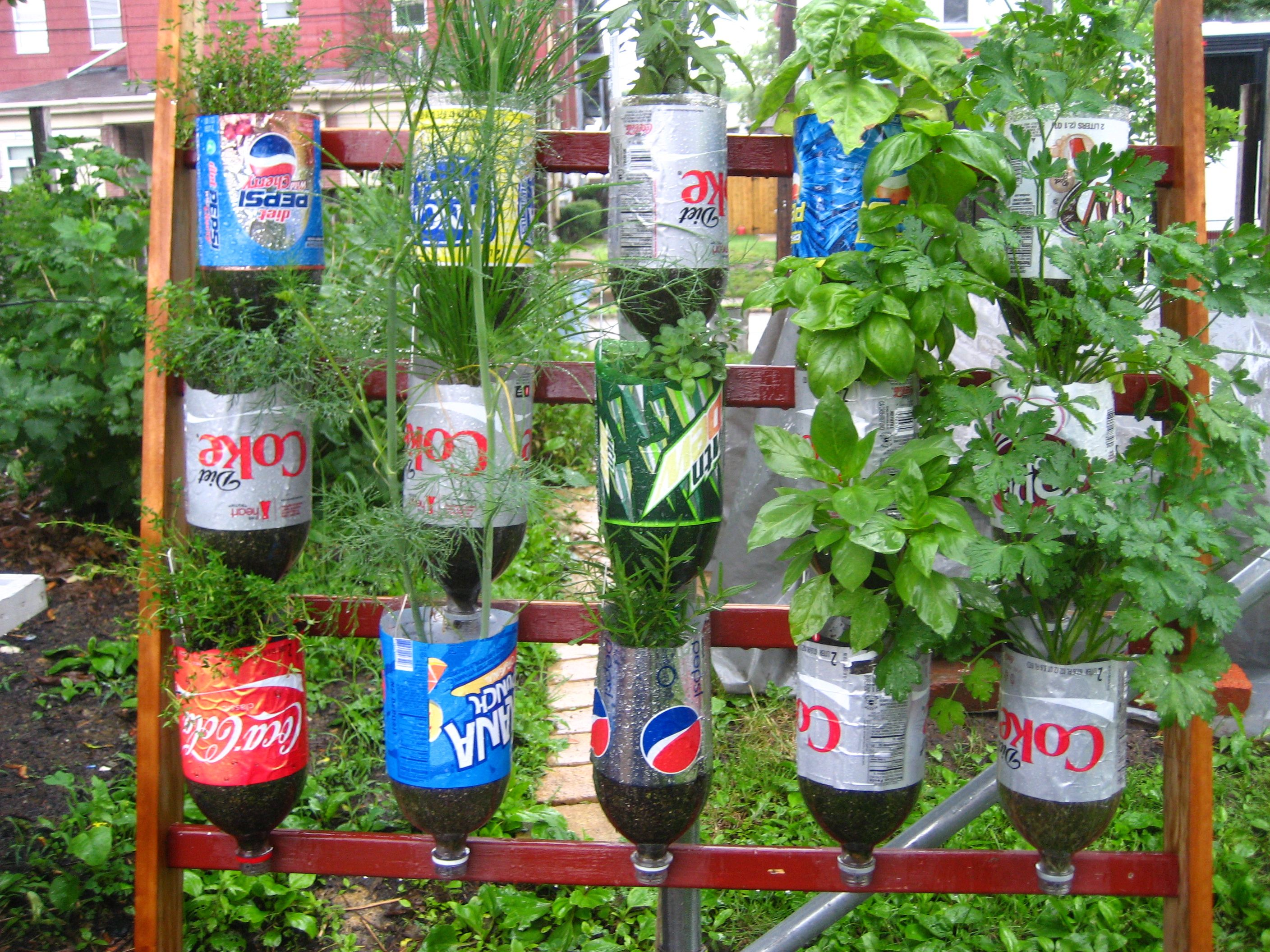 Recycled items used as a Garden Decoration. | Garden | Pinterest ...
