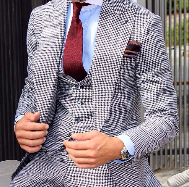 #Houndstooth #Absolute Bespoke www.absolutebespoke.com #Suiting
