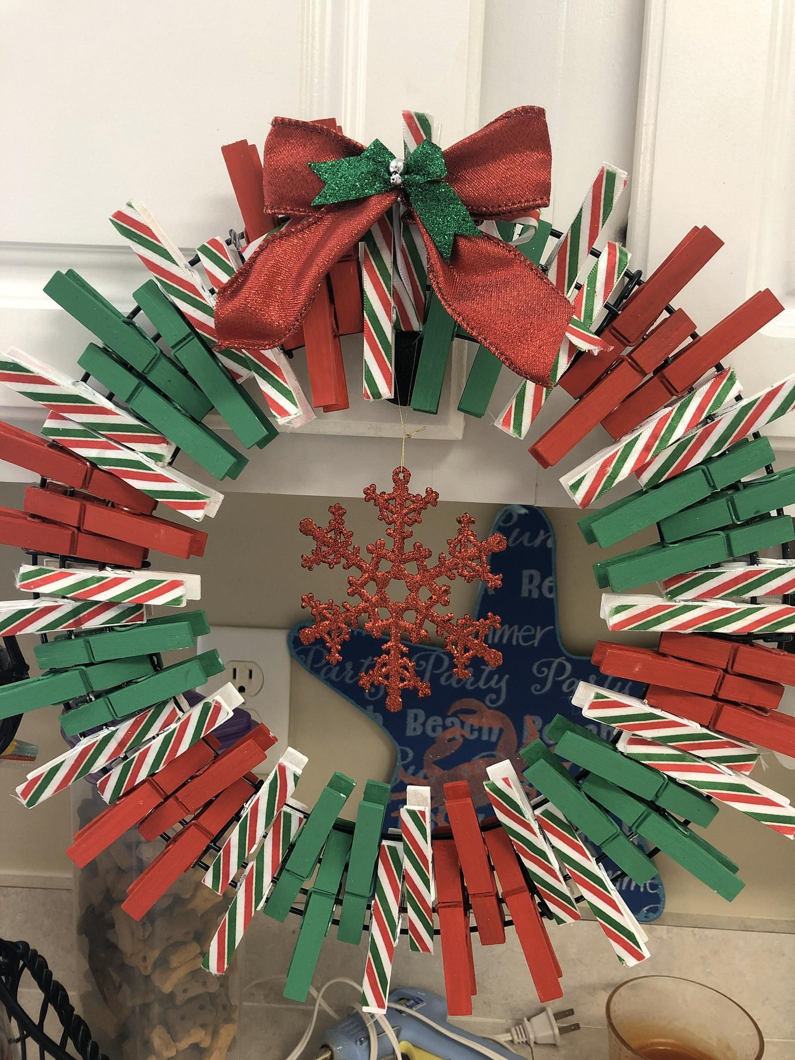 Be Mine Clothespin Wreath