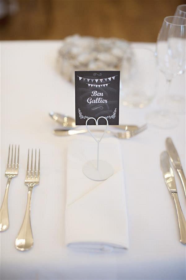 Blackboard Wedding Place Setting Image By Daffodil Waves Photography Via Whimsical Wonderland Weddings
