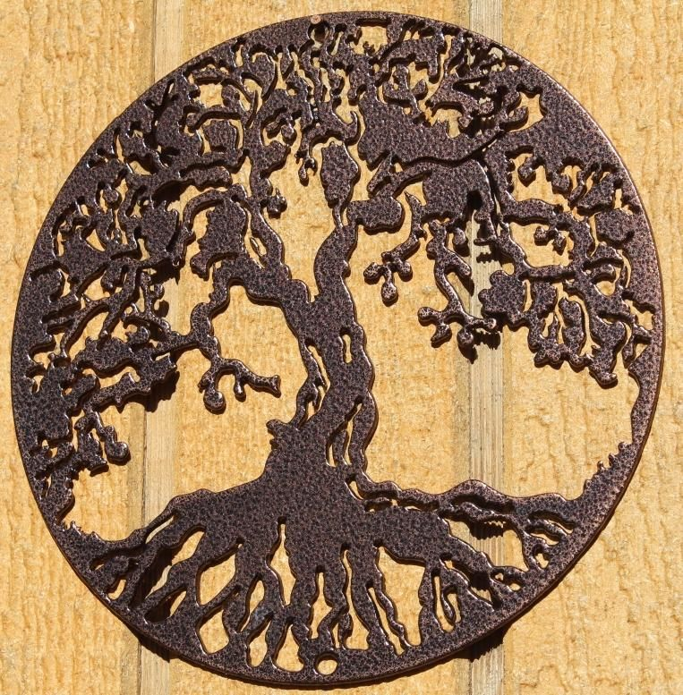 Tree of Life Metal Wall Art Copper Vein | Metal wall art, Metal ...