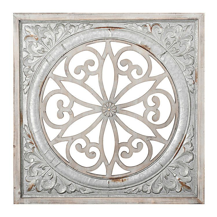 Galvanized Metal Medallion Wall Plaque Metal Wall Plaques