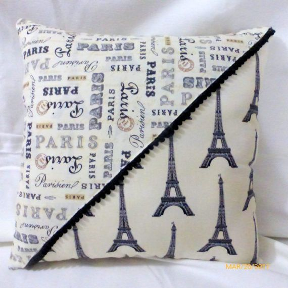 Paris Pillows Eiffel Tower Pillow French Themed Pillows Accent Unique Paris Themed Decorative Pillows