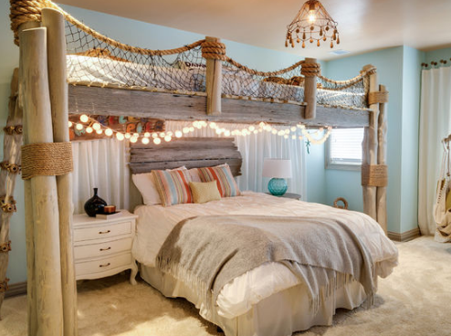 exciting ocean themed bedroom | 101 Beach Themed Bedroom Ideas! We have a variety of ...