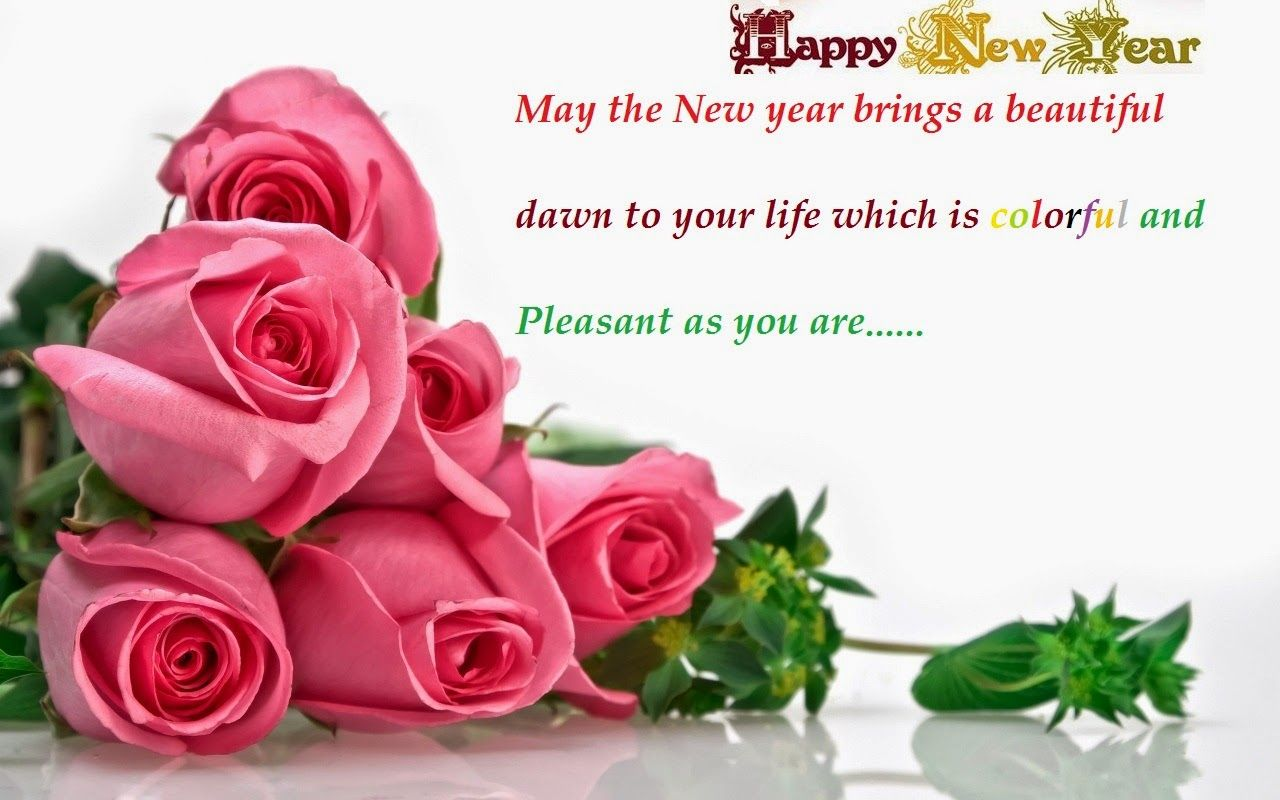 sweet happy new year wish for family and friends