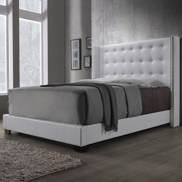 Shop Wayfair For DG Casa Savoy Viceroy Upholstered Wingback Panel Bed    Great