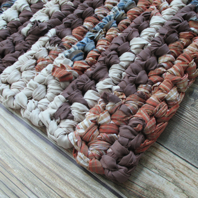 Washable Primitive Rugs: Rectangular Rag Rug