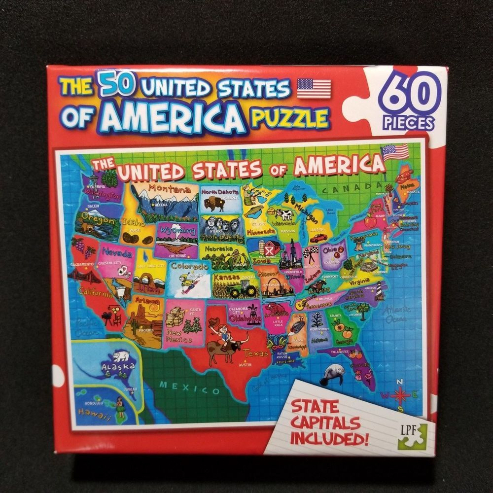 New The 50 United States Of America Puzzle 60 Pieces Large ... United States Map Games Online Free on directions only no map, free online map of europe, free online ohio map, detailed us map, free online atlas, free online kansas map, free online us map, free online globe, free printable map of wisconsin, free online texas map,