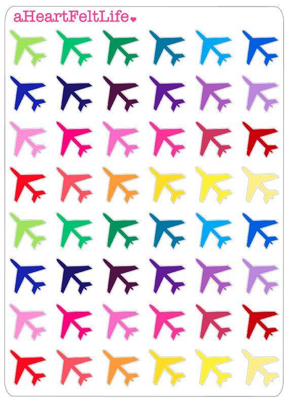 Airplane Planner Stickers, Erin Condren Planner Stickers, Filofax ...