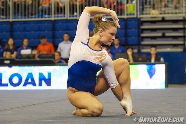 University Of Florida Athletics Gatorzone Com Female Gymnast Gymnastics Floor Music Dance Poses