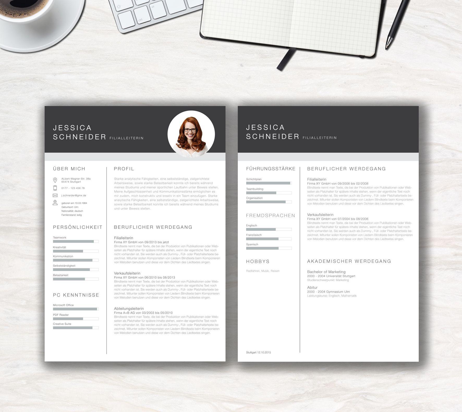 strukturierten vorlage clean chart hat der personaler sofort alle wichtigen informationen auf einen blick sie erhalten zwei seiten lebenslauf und - Publikationen Im Lebenslauf